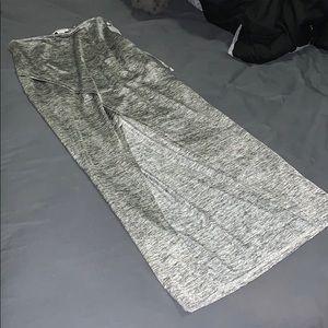 Open Front Slit Skirt